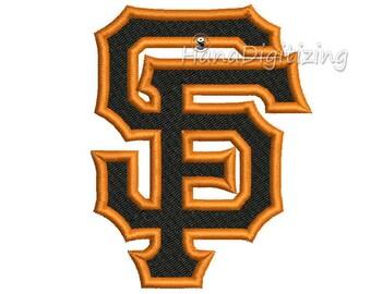 Sn Francisco Giants Logo Machine Embroidery Design 5 Sizes