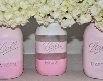 Hand Painted Mason Jar Set