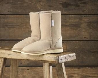 Men's Indoor British Sheepskin Slipper Boots Celtic and Co