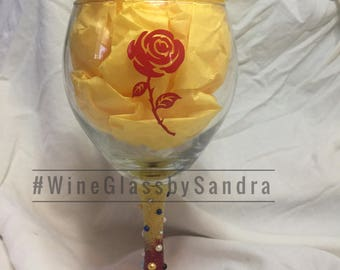 Disney Princess Belle Wine Glass - Personalized Gifts for Her