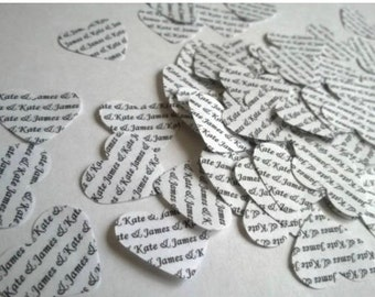 Personalised Unique Wedding Confetti by The Little Wedding Company