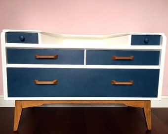 SOLD // SOLD// SOLD Vintage Retro G Plan Dresser/ Chest of Drawers with Wing Slide Drawers