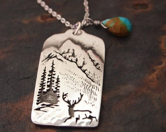 Colorado Rocky Mountains and Turquoise Necklace