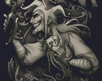 Joker Cross stitch, Medusa Dollmaker, Modern Art Needlecraft Set, Modern Cross Stitch, Counted Cross Stitch, Point De Croix, Advanced Kit