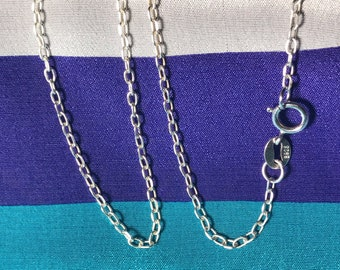 """Shop Sale.. 1 pc, 11-36"""" inch, Finished Neck Chain, Sterling Silver Cable Chain, 2.5x1.7 mm, Necklace Chain, d601.20 d601.24 d601.30 d601.d"""