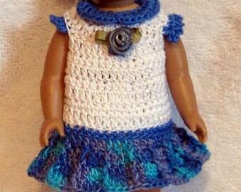 6 inch American Girl mini doll clothes dress headband shoes panties