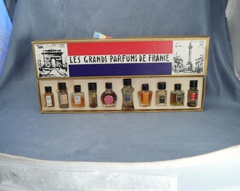 Charles V Les Grands Parfums de France Perfume Mini Set Vintage