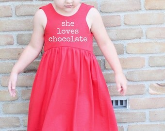 She loves - VALENTINE'S line, Red and White dress