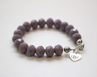 RC Signature Bracelet in Opaque Purple.