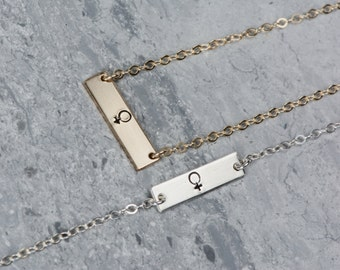 Support Planned Parenthood! Necklace or Bracelet, Feminist Jewelry, Women's Symbol Bracelet, Stamped Women's Venus Symbol