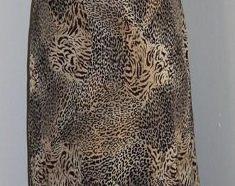 FREE SHIPPING Vintage Animal Print Chiffon Dress     Size 10