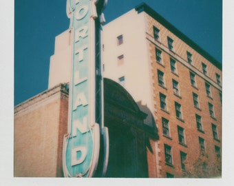 Portland Sign Printed Instant Photo - Decorate with a vintage feel - Free Domestic Shipping