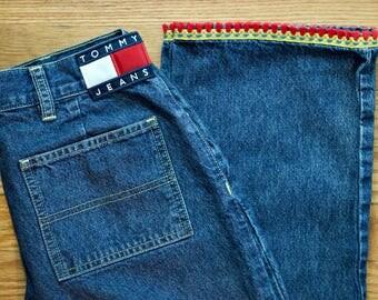 90s Tommy Hilfiger Jeans w/ Tassel Fringe Detail - Size 7