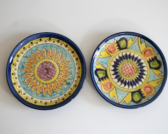 SALE Mexican Sunflower Hand Painted Plates