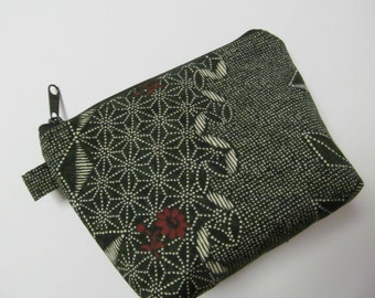 """Zipper Pouch/Kyoto Collection/4.5""""x6""""x2"""""""