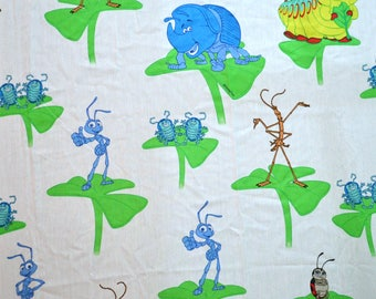 Vintage 90s A Bug's Life DISNEY Flat Sheet Size TWIN