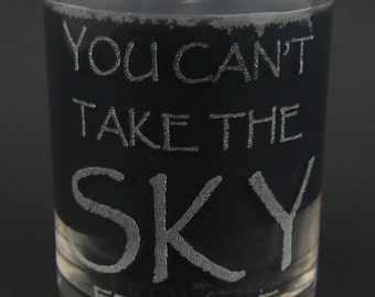 "Firefly Serenity ""You Can't Take the Sky from Me"" Mini Candle"