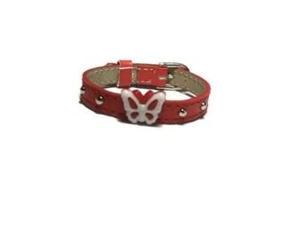 Little Girl's Bracelet - Kids Butterfly Bracelet - Children Butterfly Leather Buckle Bracelet - Little Girl's Buckle Bracelet