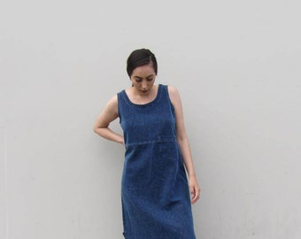 90s denim maxi tank dress