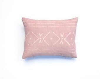 Blush Pink Pillow Cover Tribal Pattern | Boho Pillow Dusty Rose Tribal Pillow Boho Nursery Tribal Decor Light Pink Pillow cover Pantone Pink