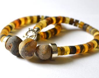 Natural Baltic Amber Necklace, Organic Jewelry, Amber Summer Necklace, Amber Jewelry, Amber Gift