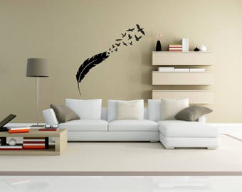 Bird Wall Decal Etsy - Wall decals birds