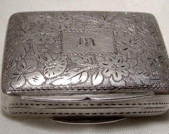 William IV Sterling Silver Vinaigrette Thomas Shaw Birmingham 1833
