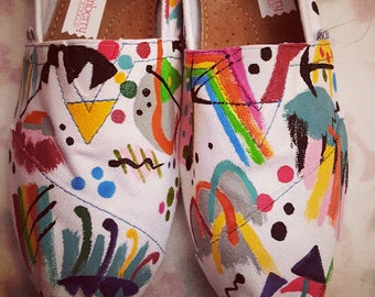 Handpainted TOMS Inspired by Kandinsky