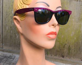 Ray Ban Sunglasses Wayfarer Bausch & Laumb B L / Street Neat Electric Amethyst Ebony / Vintage 1980s