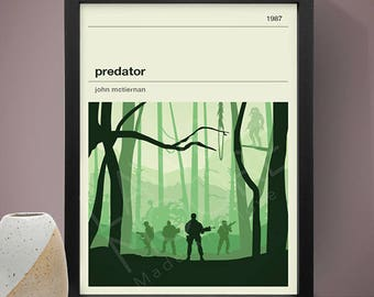Predator Movie Poster, Movie Poster, Movie Print, Film Poster, Film Poster