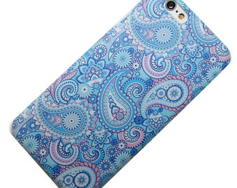 Baby Blue and Pink Paisley Design Phone Case iPhone 6, iphone 7, iphone 5, iphone SE, iphone 6 plus, iphone 7 plus, galaxy, note