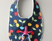 Baby Girl Binky Bib in Ro...