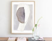 Gray and White Abstract Art, Modern Art Print, Simple Grey Home Decor Print, Neutral Wall Art, Minimalist Art Print