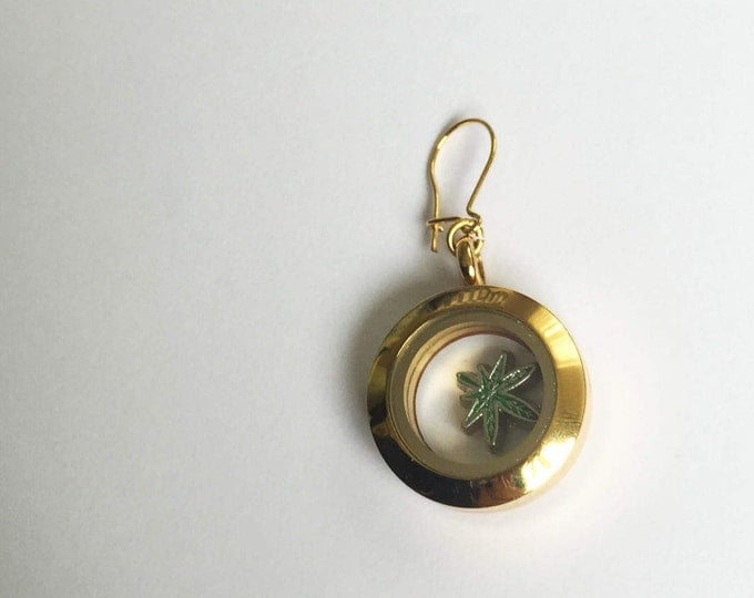 """gold plated Earring """"lucky locked"""" small size"""