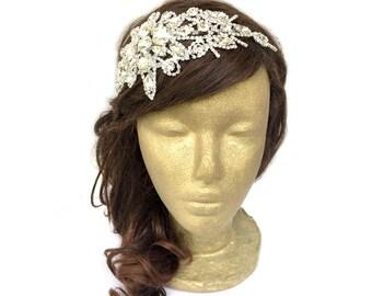 Rhinestone Headband, Roaring 20s Headpiece, Bridal Hairpiece, Great Gatsby Headband, Flapper Headband, Hair Jewelry, Prom, Formal