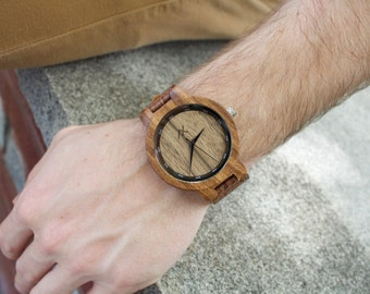 Zebrawood Wood Watch, Wooden Watch for Him, Gift for Him, Mens Wood Watch, Personalized Wood Watch, Wedding Gift, Mens Wooden Watch, Wood