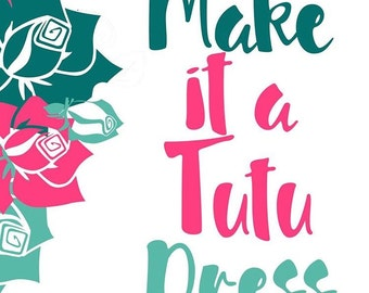 Make my tutu order a dress ADD ON