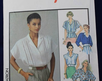 1980's Vintage Sewing Pattern for a Woman's Blouse in Size 12 - Simplicity 1281