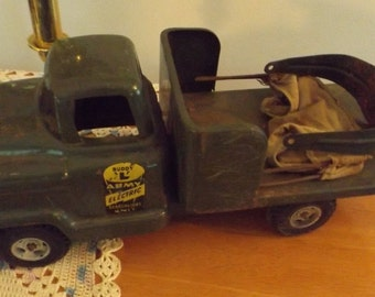 1950s Buddy L Army Electric Searchlight Unit 3 Pc, Vintage Army Toys, Kids, Buddy L Army, Electric toy, antique toy, Army, Collectible