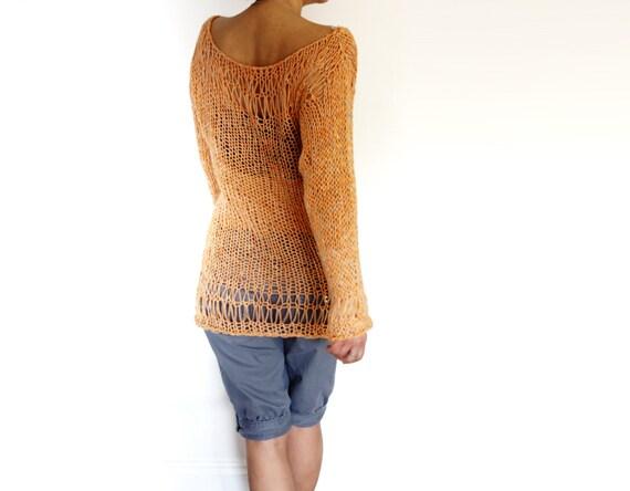 knitting pattern sunset sweaterloose laced knit beach cover