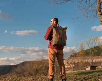 mens canvas backpack men leather rucksack backpack waxed canvas rucksack school backpack leather backpack travel backpack hipster backpack