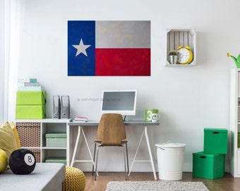 Texas Flag Decal - Texas Flag Decor - Texas State Decal - Texas Sign - Texas Art - Texas Wall Art - Texas Wall Decor - Texas Gifts