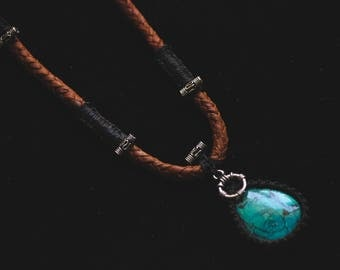 SALES!!!Chrysocolle Leather  Macrame Design - Tribal - Boho - Gypsy - Ethnic - Travel - Medieval - Festival - Original - Braids