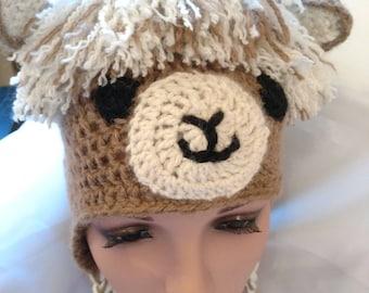 Whimsical Alpaca Hat