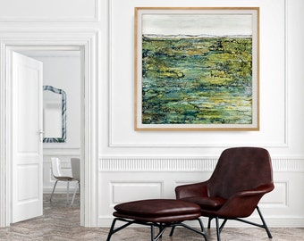 Large Fine Art Print, Oversized Wall Art, Giclee, Green Abstract Print. Large Canvas Prints