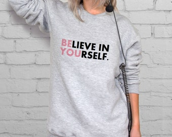 Sweatshirt Woman XL Sweater With Sayings Clothing Pullover Sweater Quote Sweatshirt Tumbler Clothes Crewneck Sweater For Woman Jumper YP3017