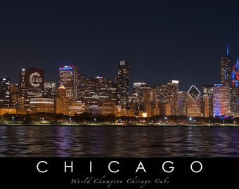 Chicago Cubs skyline