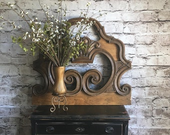 Architectural Salvage, architectural wall decor, farmhouse wall, wood architecture, large wood wall decor, rustic wall, one of a kind