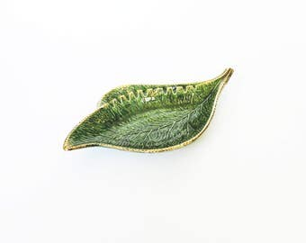 Mid Century Pottery Leaf Tray