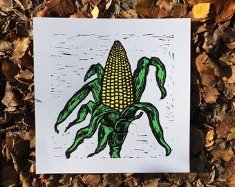 Corn, 2016 (Original Hand-pulled Screen Print)
